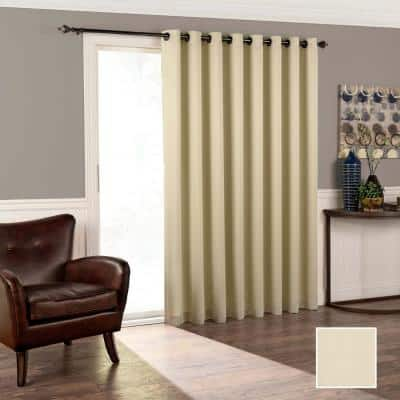 Stone Woven 100 in. W x 84 in. L Thermal Room Darkening Curtain