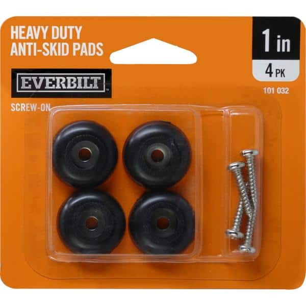 Everbilt 1 In Heavy Duty Anti Skid, Rubber Feet For Furniture Home Depot