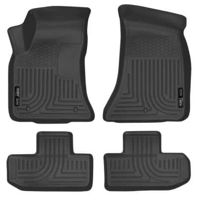 Front & 2nd Seat Floor Liners Fits 16-18 Challenger