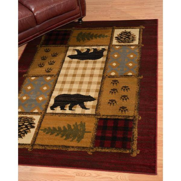 United Weavers Affinity Lodge Mosaic Multi 7 Ft 10 In X 10 Ft 6 In Area Rug 750 05775 912 The Home Depot
