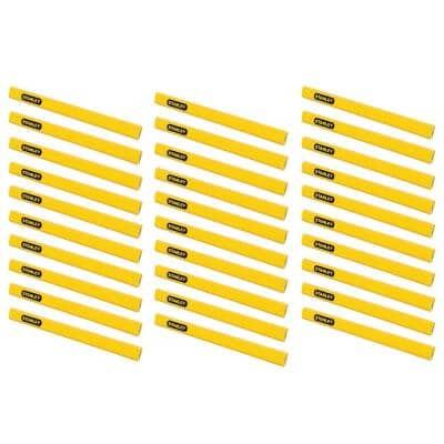 Carpenter Pencil, Yellow (30-Pack)