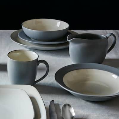 Colorwave Slate Grey  Stoneware Rim Salad Plate 8-1/4 in.