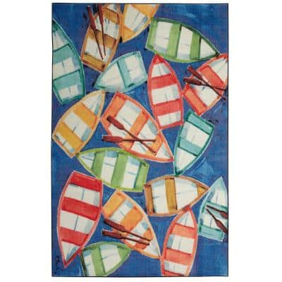 Rowboat Rendezvous Multi 5 ft. x 8 ft. Graphic Area Rug