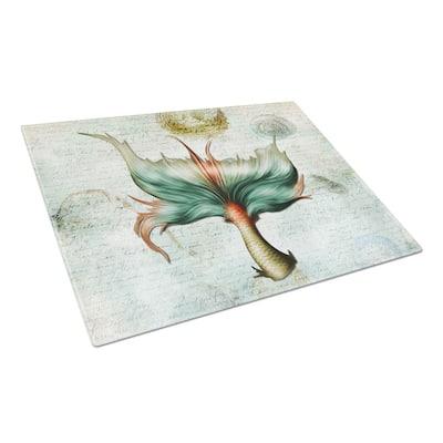 Mermaids and Mermen Mermaid Tail Tempered Glass Large Cutting Board