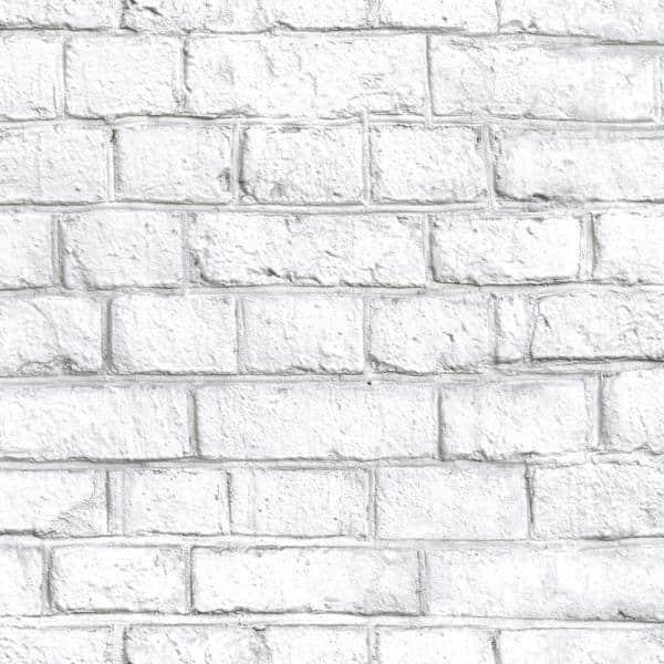 Roommates White Brick Peel And Stick Wallpaper Covers 28 18 Sq Ft Rmk11237wp The Home Depot