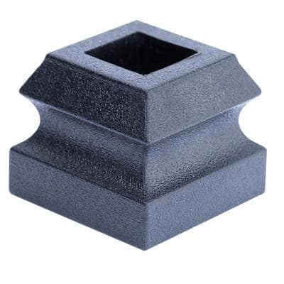 1 in. x 1-1/4 in. Plastic Satin Black Slip-N-Grip Flat Shoe
