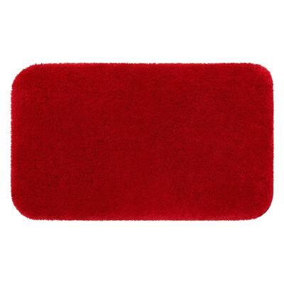 Riverside Red 20 in. x 34 in. Nylon Machine Washable Bath Mat