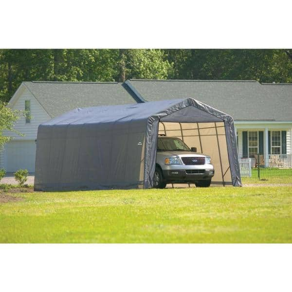 Reviews For Shelterlogic 13 Ft W X 28, Portable Car Garage Home Depot