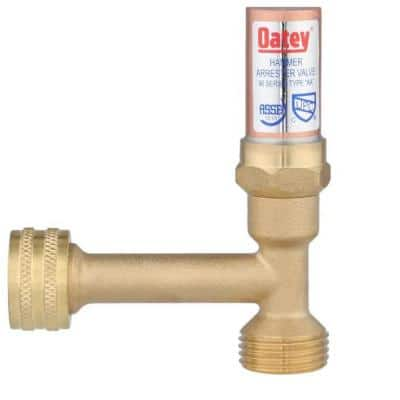 Quiet Pipes 3/4  in. x 3/4 in. CPVC Compatible Copper Sweat Connection Washing Machine Water Hammer Arrester