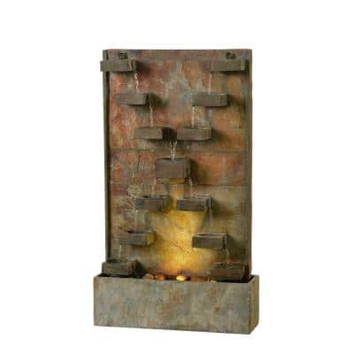 Voyage Slate and Resin Floor Fountain