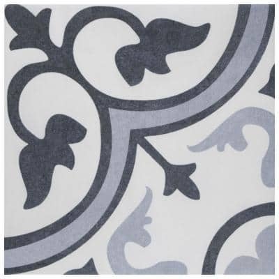 Take Home Tile Sample - Amberes Azul II 13 in. x 13 in. Ceramic Wall and Floor