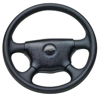 13-1/2 in. Universal UV-Resistant 4-Spoke Marine Boat Steering Wheel