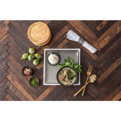 2-Piece Arezzo Stainless Steel  Brushed Gold Service Set