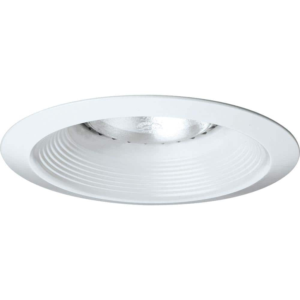 Progress Lighting 6 In White Recessed Baffle Trim P8075 28 The Home Depot