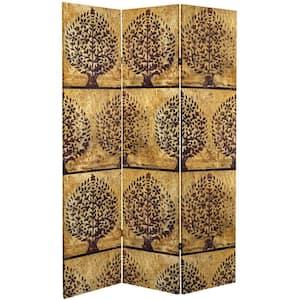Gold Leaf Orchard 6 ft. Printed 3-Panel Room Divider