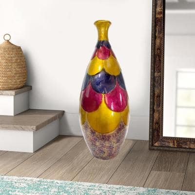 Shelly Amber, Pink, Purple Ceramic Decorative Vase