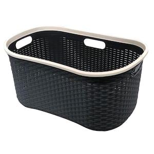 MH Gray Plastic Laundry Basket 40 Litre Capacity
