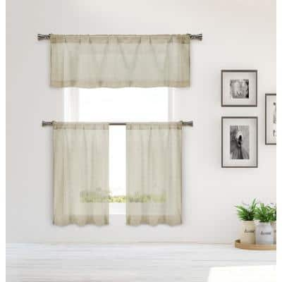 Mouse Solid Rod Pocket Room Darkening Curtain - 15 in. W x 58 in. L (Set of 3)