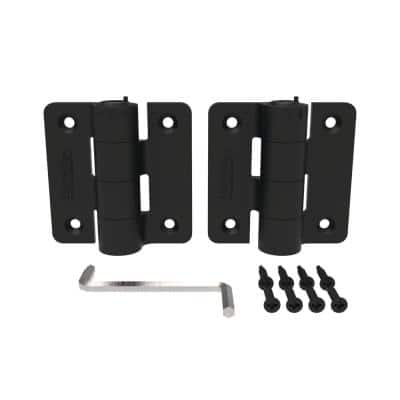 2.875 in. x 3.25 in. Black Compact Butterfly Hinge Kit (2-Pack)