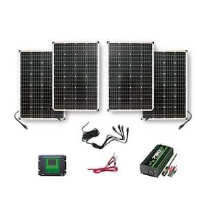 440-Watt Polycrystalline Solar Panels with 750-Watt Power Inverter and 30 Amp Charge Controller
