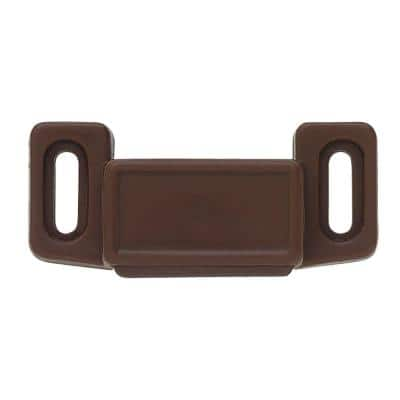 2 in. Brown Economy Magnetic Door Catch with Strike