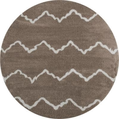 Tranquility Galen Beige 7 ft. 10 in. x 7 ft. 10 in. Round Rug