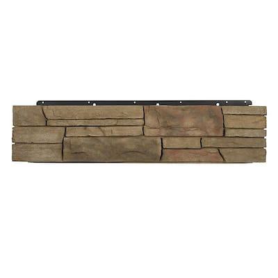 8 in. x 36 in. Versetta Stone Corner Ledgestone Terra Rosa Siding (6-Bundles Per Case)