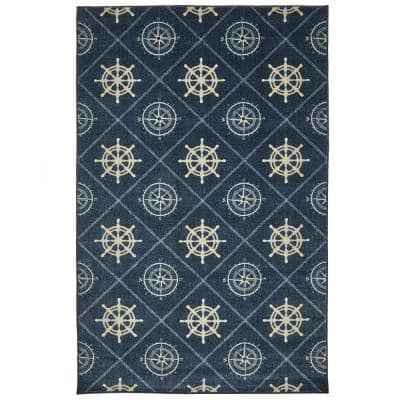 Compass Navy 8 ft. x 10 ft. Area Rug
