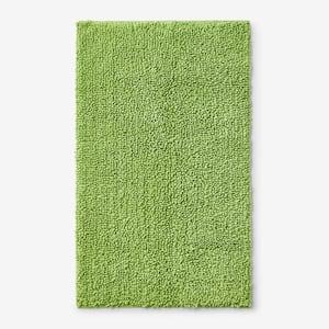 Company Cotton Chunky Loop Field Green 17 in. x 24 in. Bath Rug