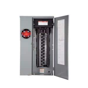 Homeline 200 Amp 42-Space 42-Circuit Outdoor Ring-Type Surface Mount Solar-Ready Main Breaker Plug-On Neutral CSED