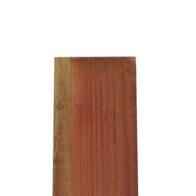 3/4 in. x 7-1/2 in. x 8 ft. FSC Construction Common Redwood Flat Top Fence Picket