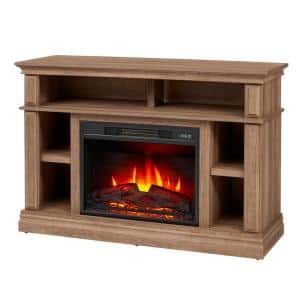 Wolcott 48 in. Media Console Electric Fireplace in Prairie Ash
