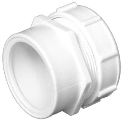1-1/2 in. PVC DWV Trap Adapter Male with Washer and P-Nut