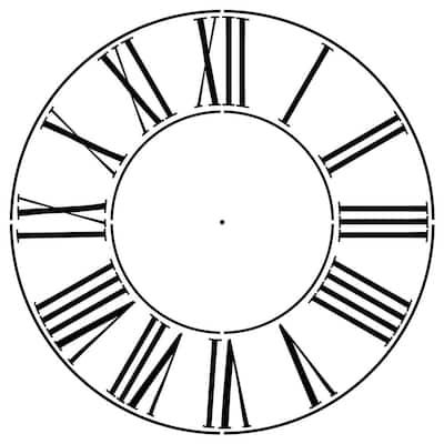 Large Roman Numeral 18 in. Clockface Wall Stencil