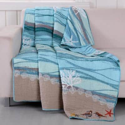 Maui Multicolored Quilted Cotton Throw