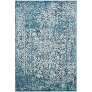 Evoke Blue/Ivory 7 ft. x 9 ft. Area Rug