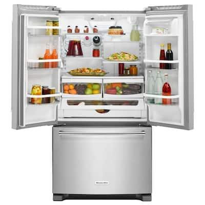 20 cu. ft. French Door Refrigerator in Stainless Steel, Counter Depth