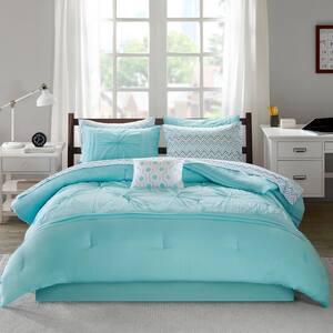 Devynn 9-Piece Aqua Queen Comforter Set