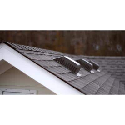 60 sq. in. Granule-Coated Aluminum Slant Back Static Roof Vent in Weathered Wood
