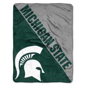 Halftone Michigan State University Polyester Twin Knitted Blanket