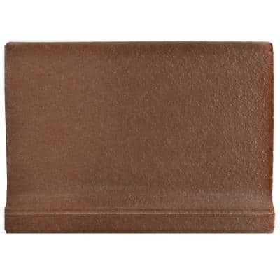 Klinker Flame Red 4-3/8 in. x 5-7/8 in. Ceramic Skirting Floor and Wall Quarry Tile