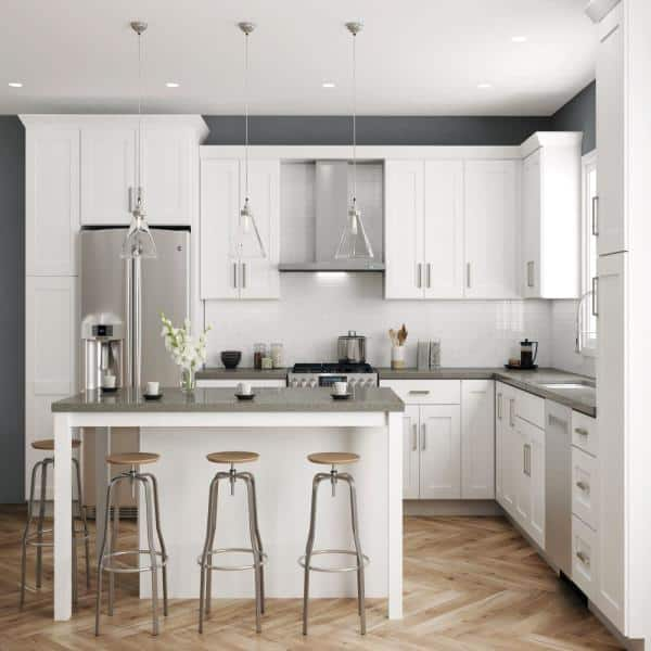 Hampton Bay Shaker Ready To Assemble 48, Ready Kitchen Cabinets