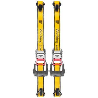 16 ft. x 1-1/2 in., 1500 lbs. Super-Duty Ratcheting Tie-Down Straps (2-Piece)