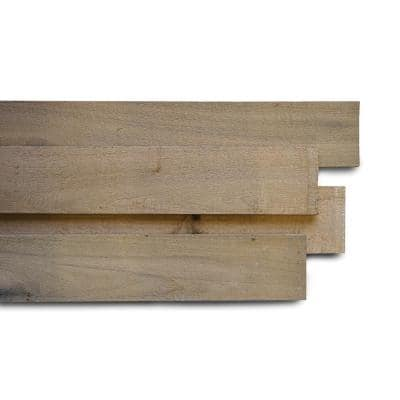 1/2 in. x 4 in. x 4 ft. Wheat Poplar Weathered Board 5 packs (52.5 sq.ft.) – (8 pieces / 10.5 sq.ft. per pack)