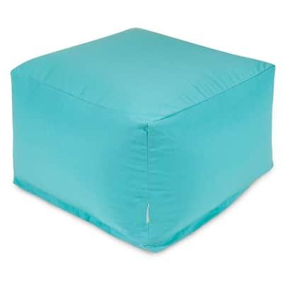 Teal Solid Indoor/Outdoor Ottoman Cushion