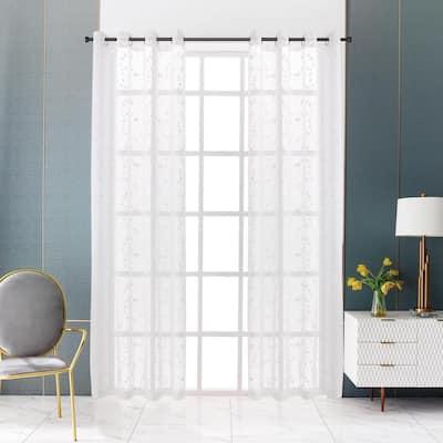 Joy Sheer Curtain 52in.Wx54in.L in White