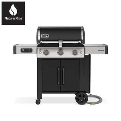 Genesis II EX-315 3 Burner Natural Gas Smart Grill in Black