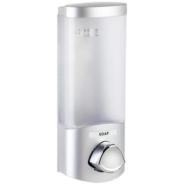 Better Living Uno Wall Mount Abs Soap Lotion Dispenser In Satin Silver 76134 1 The Home Depot