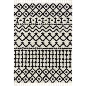 Cabana Besa Moroccan Shag White 7 ft. 10 in. x 9 ft. 10 in. Soft Area Rug