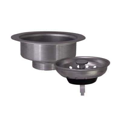 Kitchen Sink Anti-Clogging S304 Stainless Steel Drain Strainer with Food Waste Catching Basket